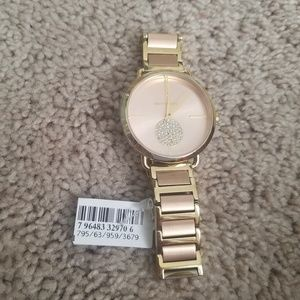 New michael Kors gold and rose gold watch